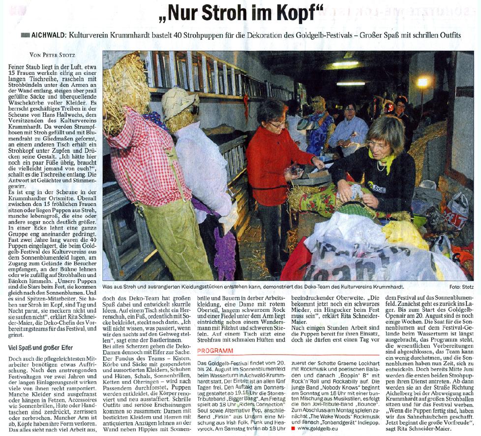 """Esslinger Zeitung """"Nur-stroh-im-Kopf"""""""
