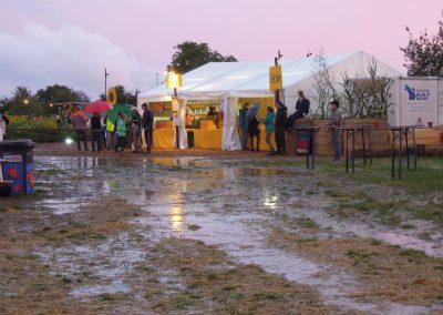 18. August – Goldgelbfans trotzen dem abendlichen Starkregen